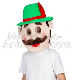 Adult brown monkey mascot and disguise