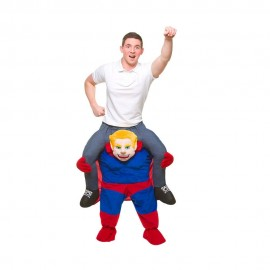 Adult Father Christmas Riding Mascot Costume